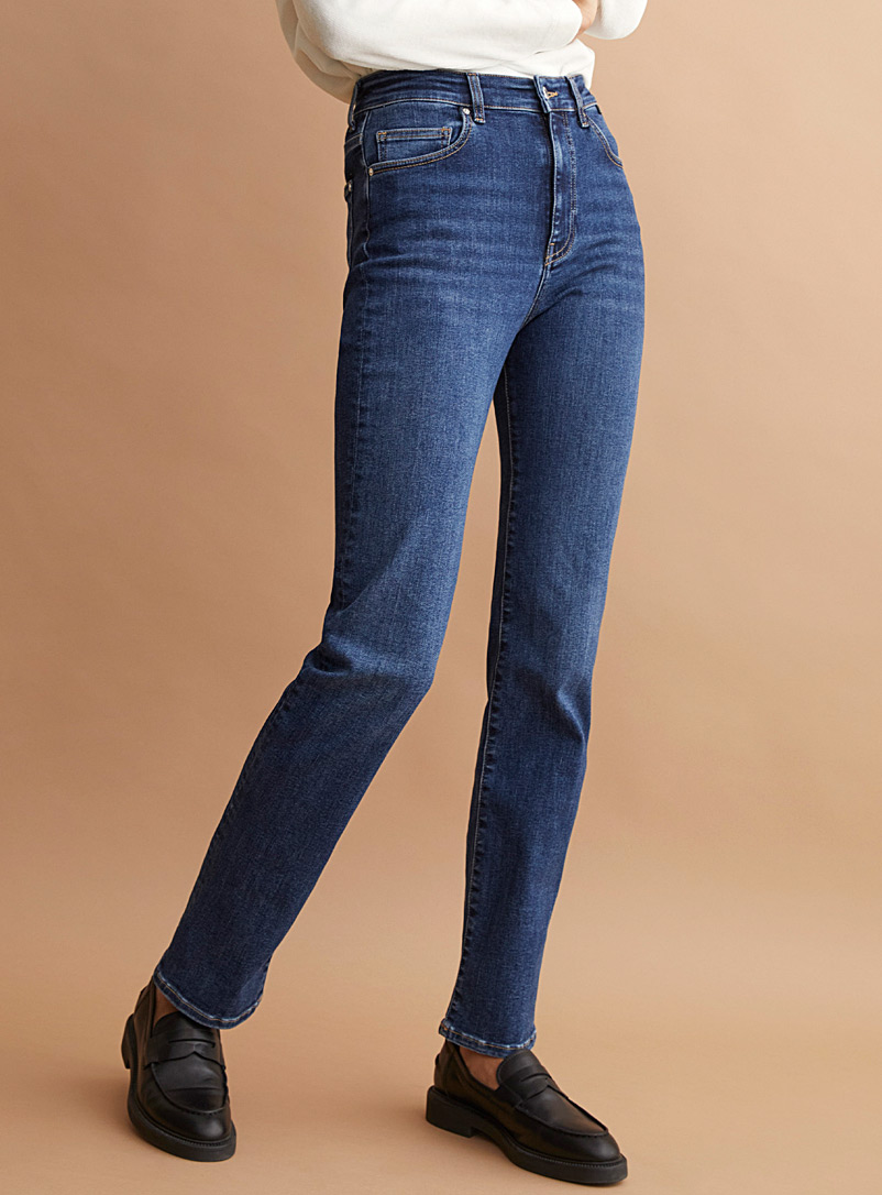 Mavi Jeans Slate Blue Veronica organic cotton straight jean for women