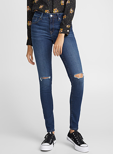 Slit-knee Alissa high-rise skinny jean