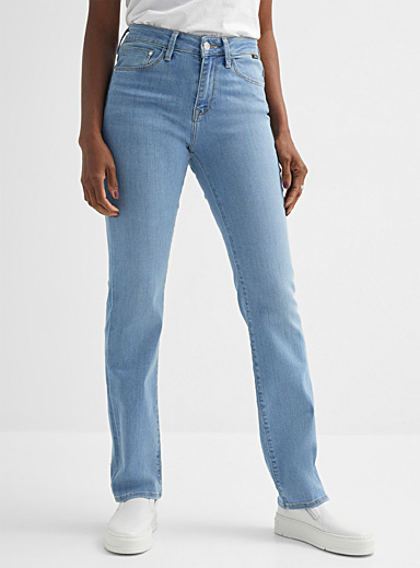 Faded Kendra straight high-rise jean