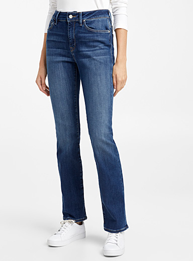 Mavi Jeans Slate Blue Kendra straight high-rise jean for women