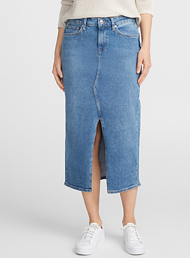 Elora denim midi skirt