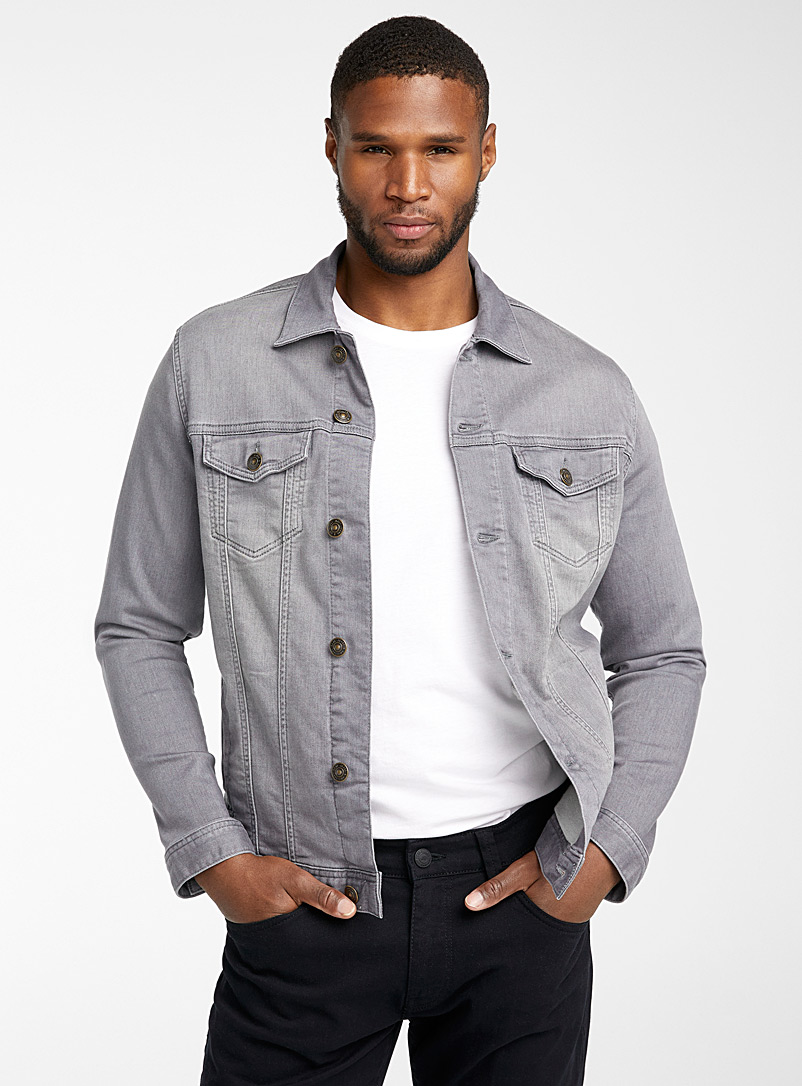 Mavi Jeans Grey Grey jean jacket for men
