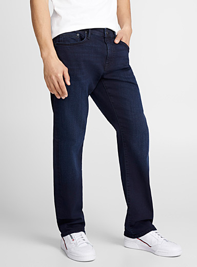 Zach deep indigo jean <br>Straight fit