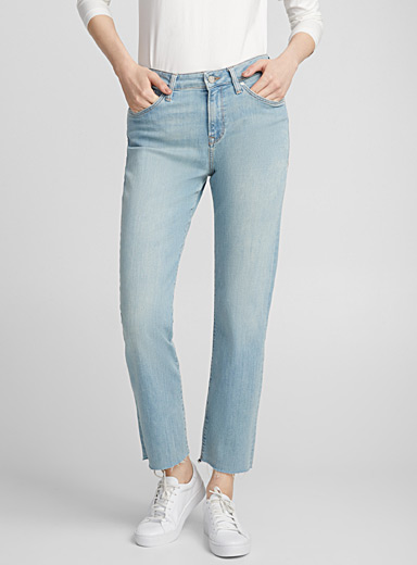 Niki bleach cropped jean