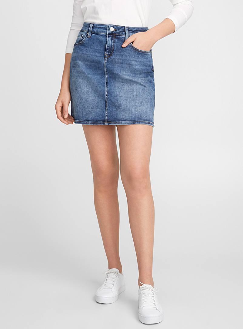 Rita denim skirt - Short - Blue