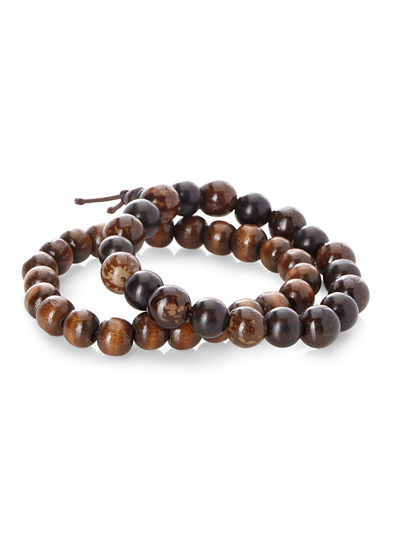 Multicolour wooden beads bracelet  Set of 2