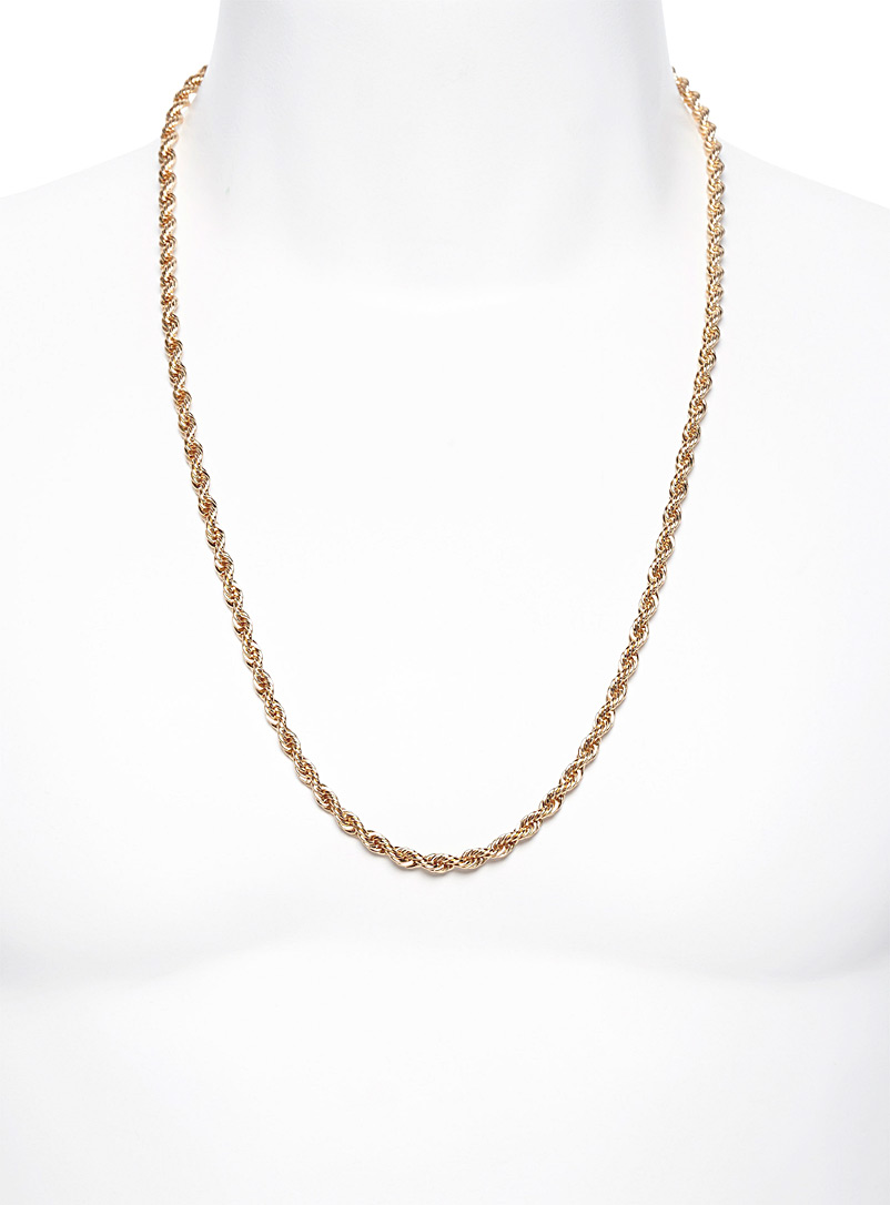 Twisted chain necklace - Necklaces - Golden Yellow