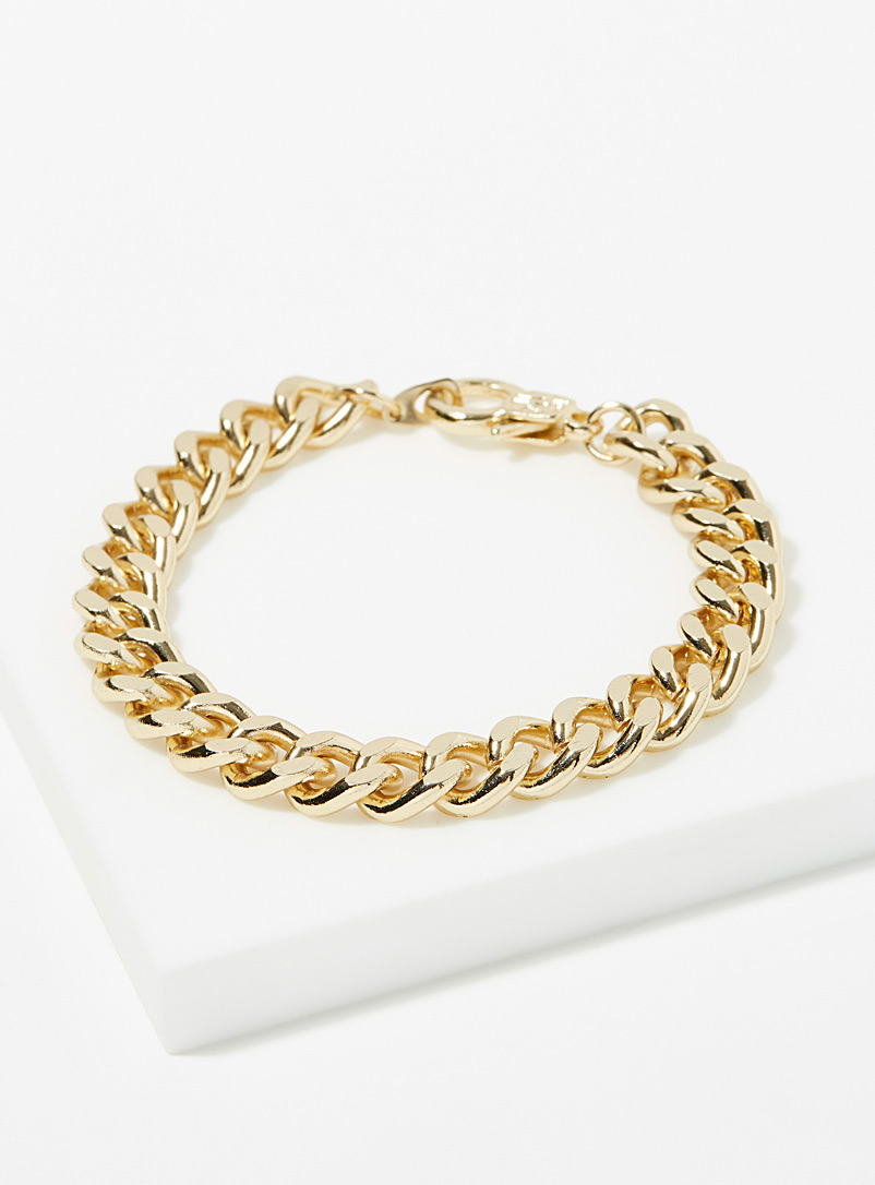Le 31 Golden Yellow Flat link golden bracelet for men