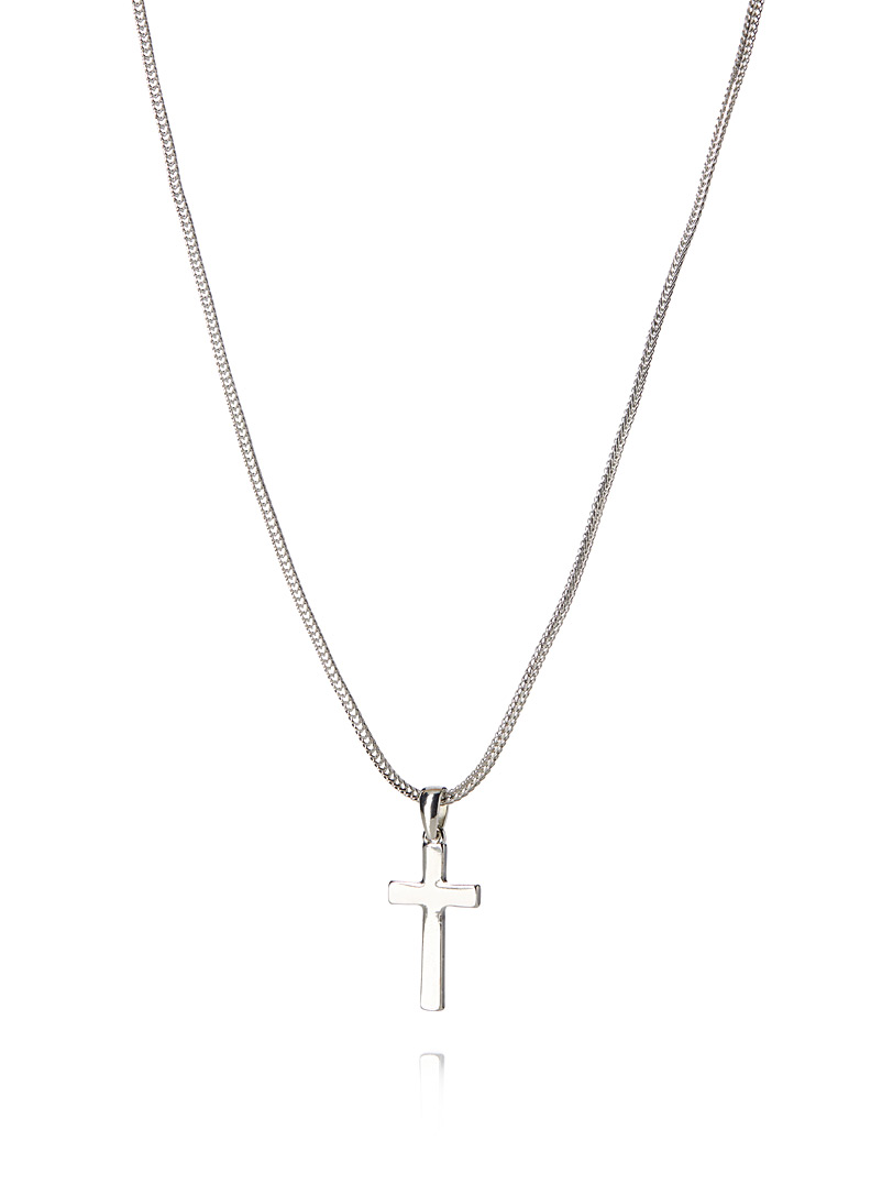 Metallic cross necklace