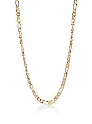 Block link chain necklace
