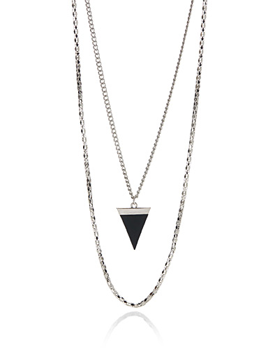 Shiny chain necklaces <br>Set of 2