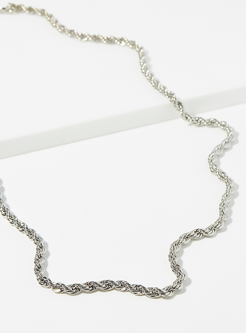 Twisted chain necklace - Necklaces - Silver