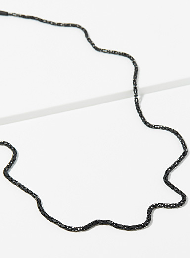 Matte black chain necklace