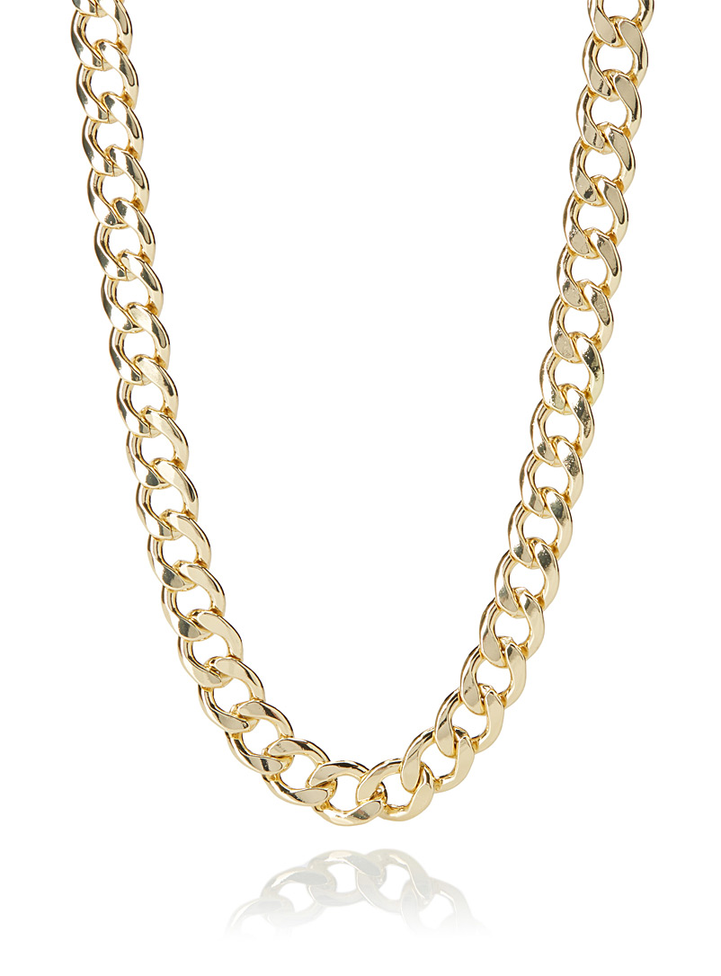 Le 31 Golden Yellow Flat chain necklace for men