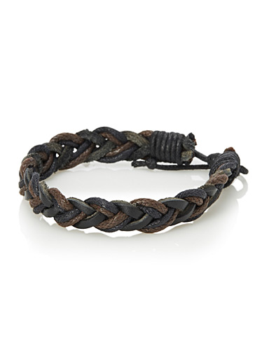 Two-tone braid bracelet