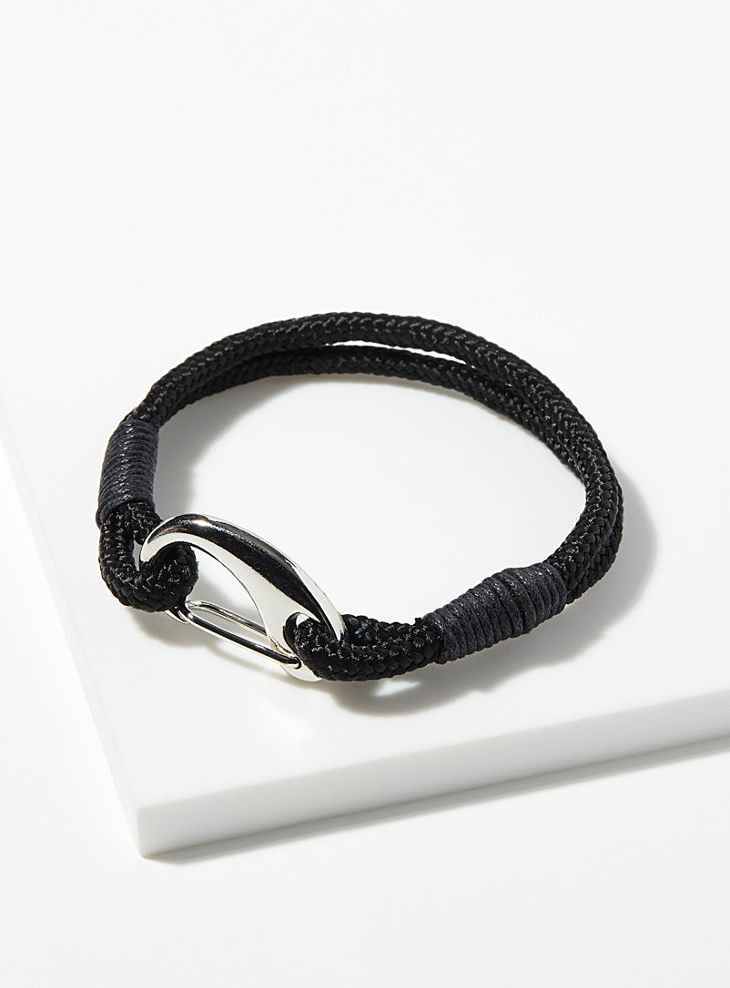 Le 31 Dark Yellow Climbing cord bracelet for men