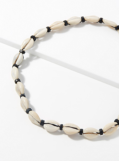 Le 31 White Seashell necklace for men