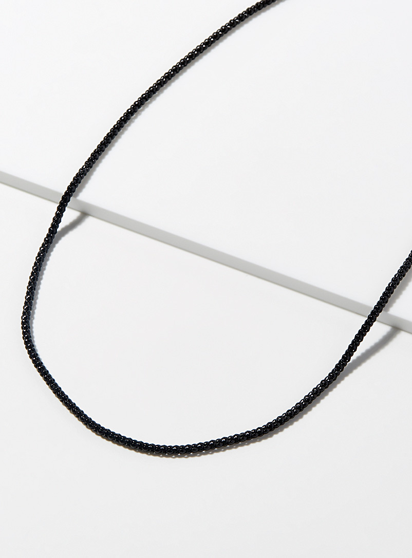 Le 31 Black Monochrome chain necklace for men