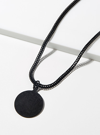 Le 31 Black Monochrome pendant chain for men