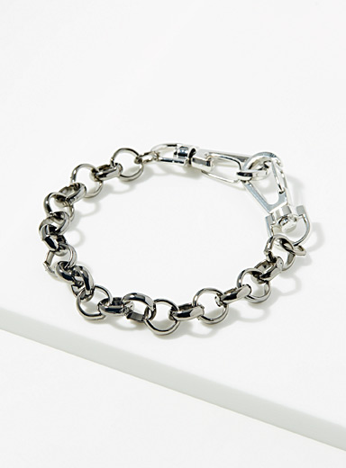 Le 31 Black Circle-link bracelet for men