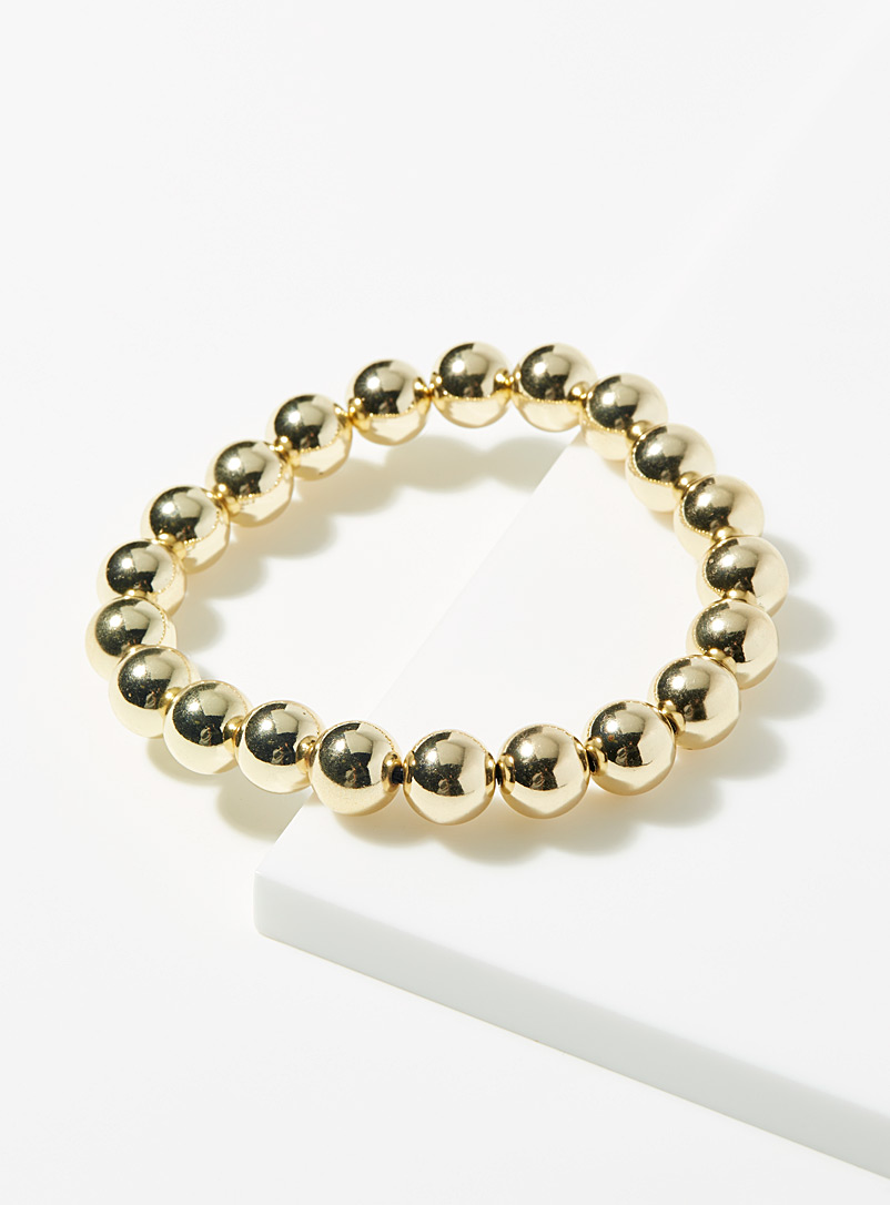 Le 31 Assorted Gold bead bracelet for men
