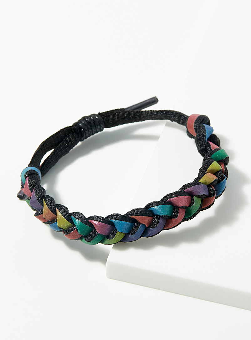 Le 31 Assorted Braided rainbow bracelet for men