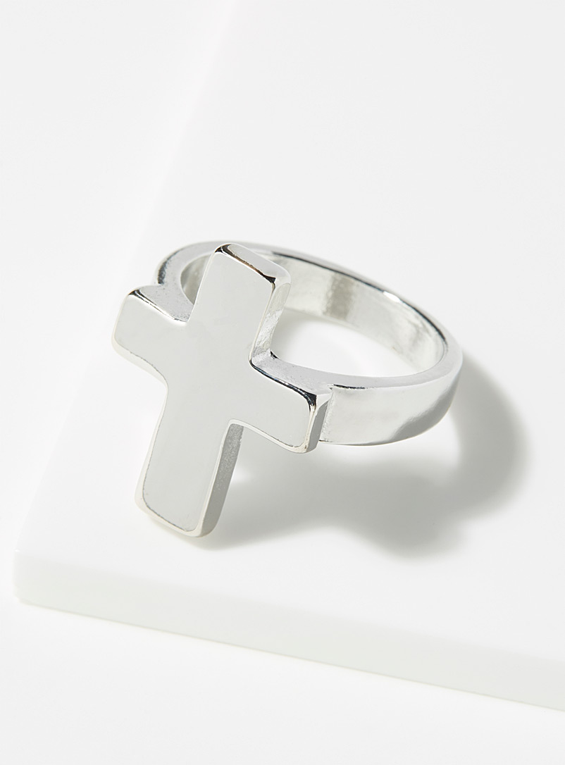 Le 31 Silver Cross ring for men