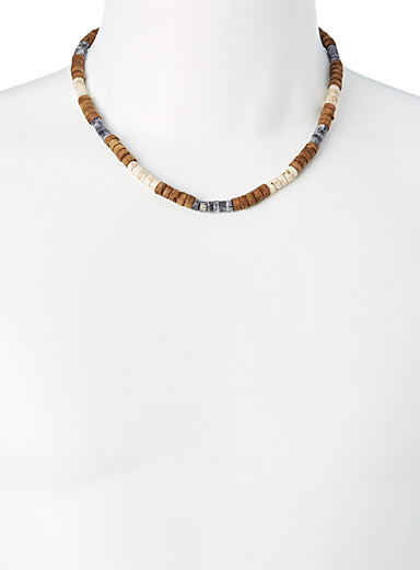 Tricolour ridge necklace
