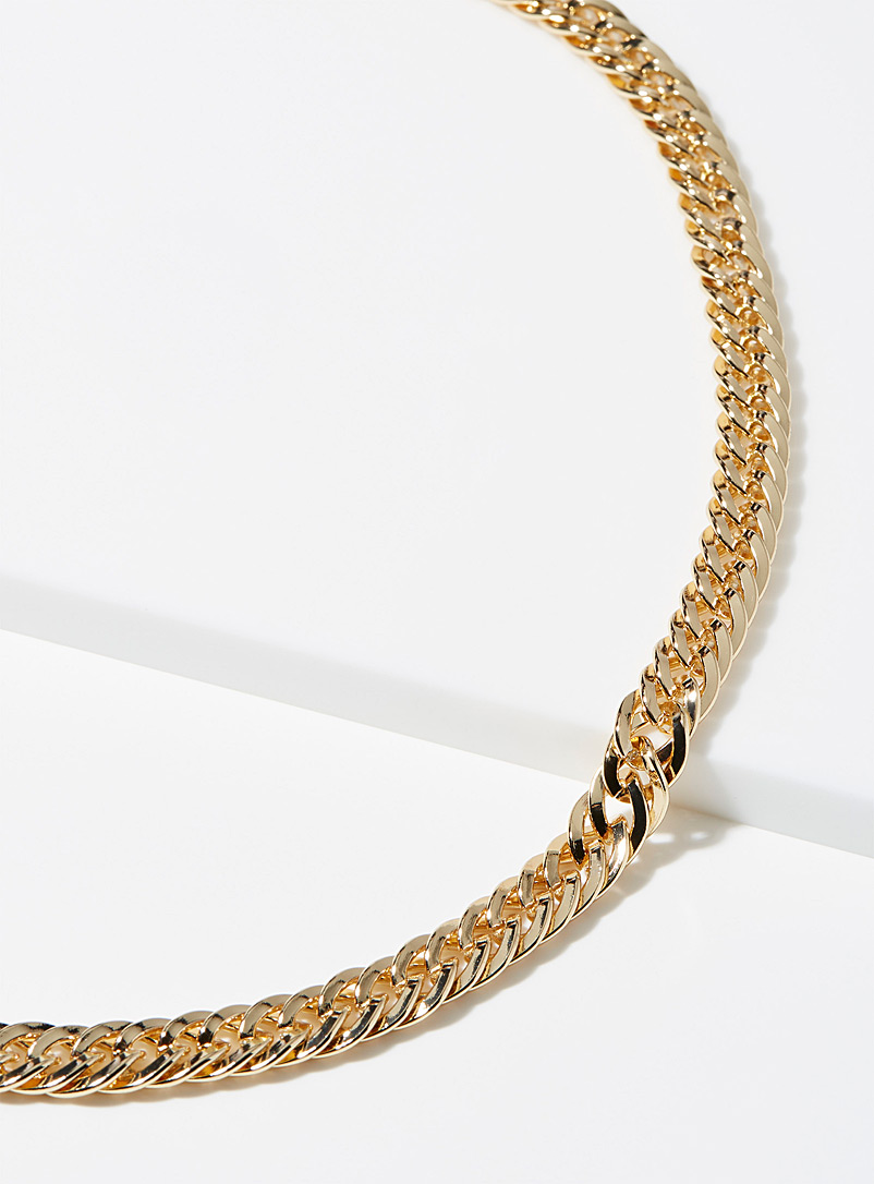 Le 31 Golden Yellow Flat-link chain for men