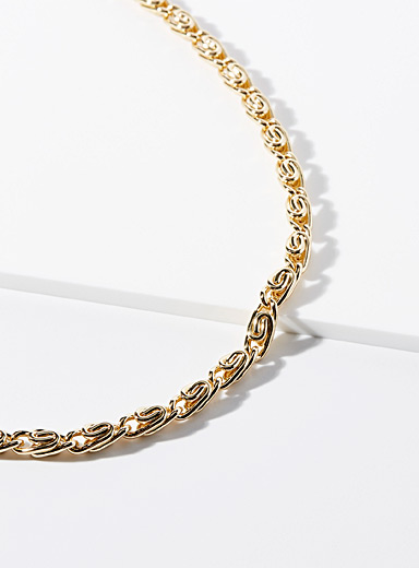 Twisted link chain