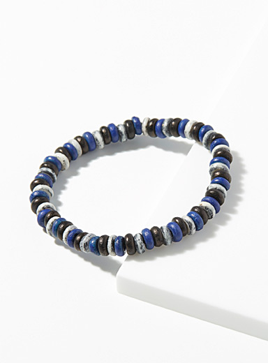 Blue pebble bracelet