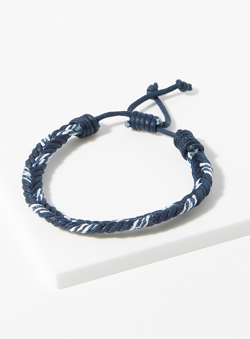 Le 31 Marine Blue Nautical braided bracelet for men