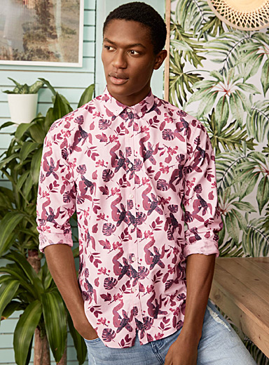 Tropical foliage shirt  Semi-tailored fit