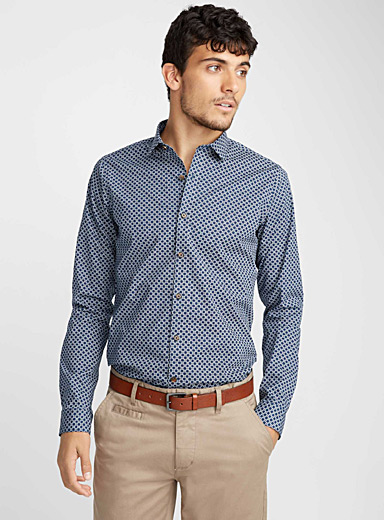 Indigo mosaic shirt  Slim fit