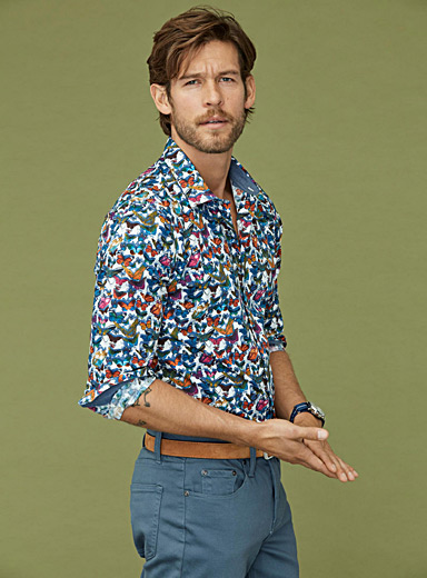 Colourful butterfly shirt  Slim fit