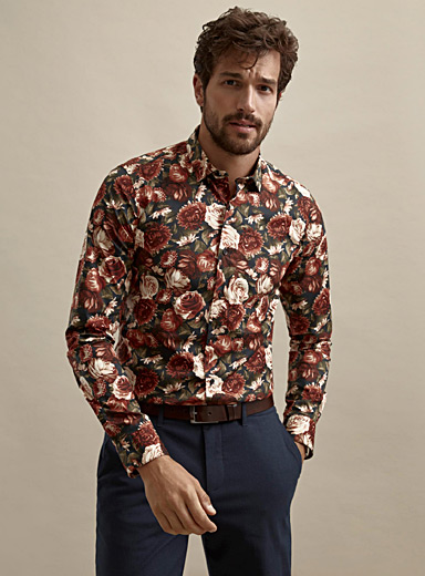 Dark floral shirt  Slim fit