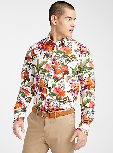 Tropical botanical shirt  Modern fit