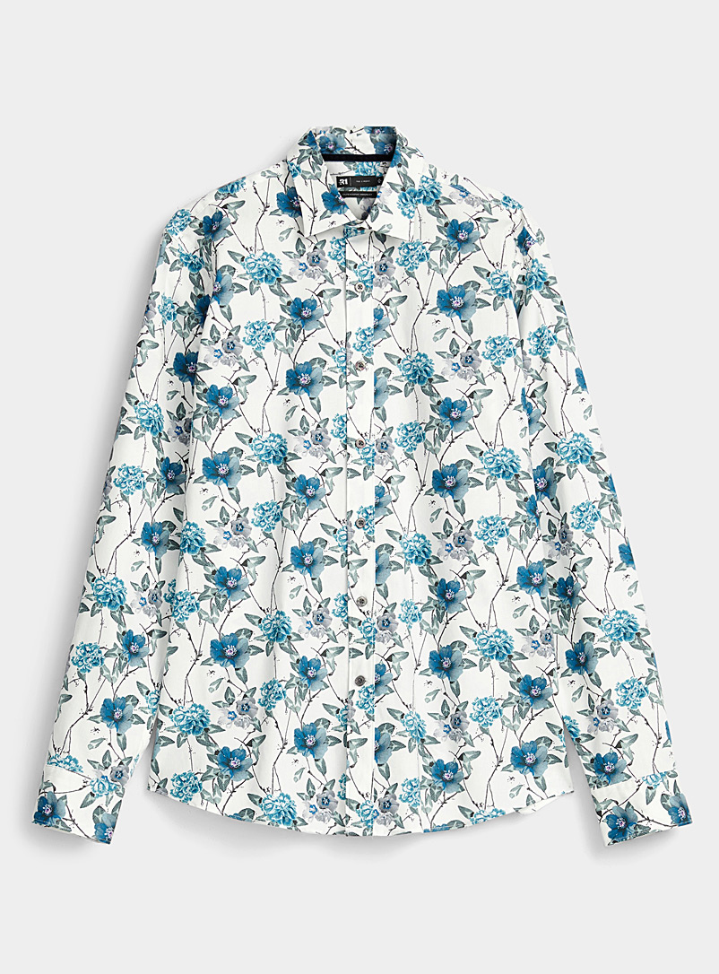 Stretch floral shirt  Modern fit