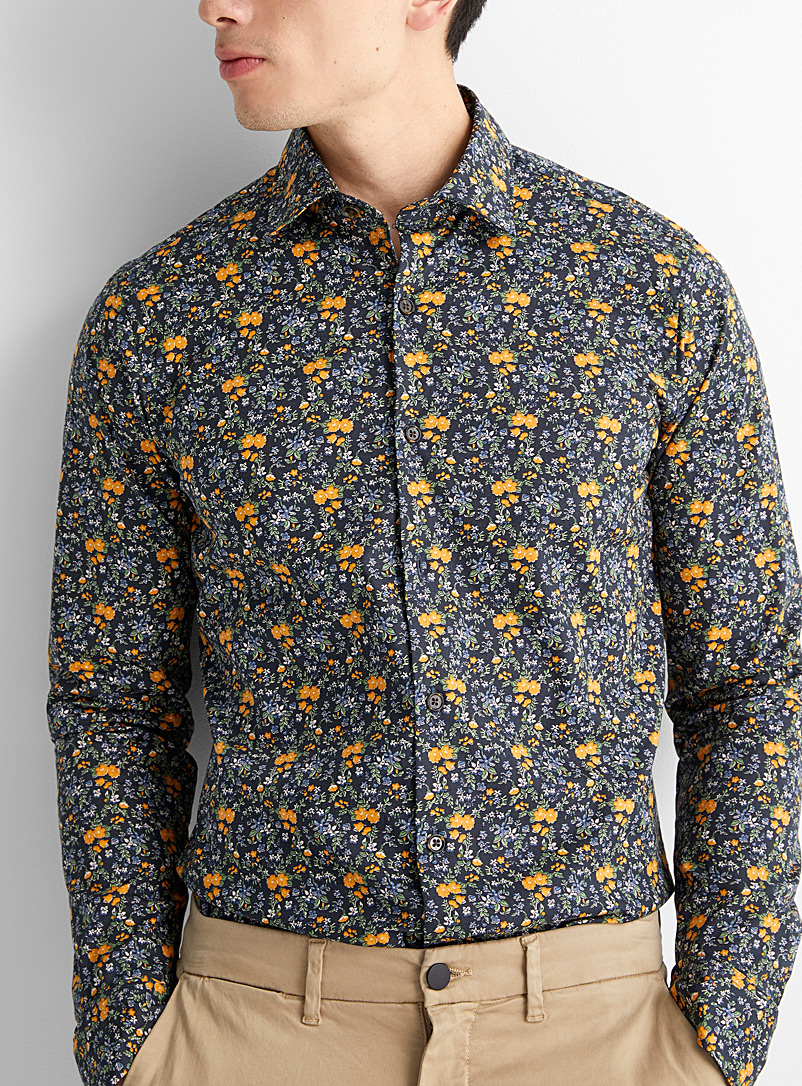 Yellow bloom shirt  Slim fit