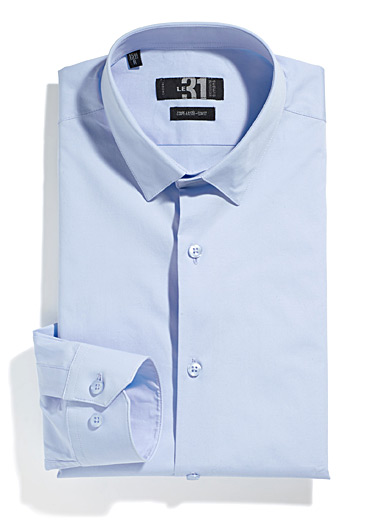 Solid stretch shirt <br>Tailored fit