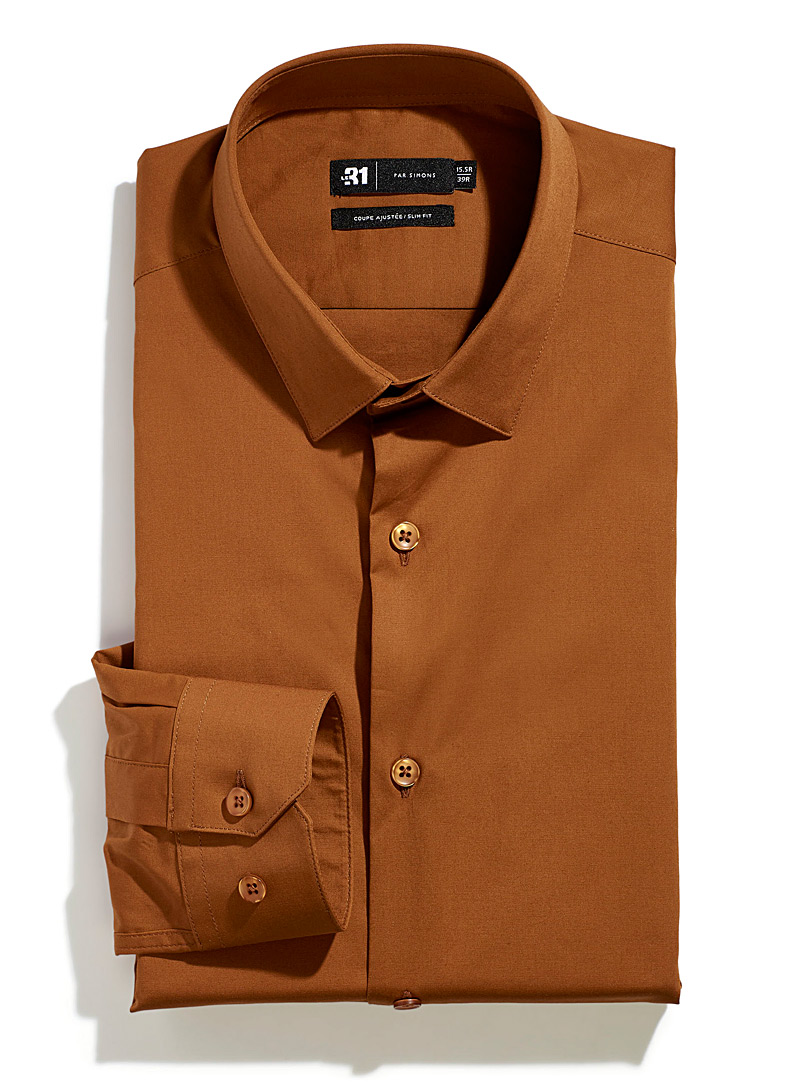 Minimalist stretch shirt  Slim fit - Slim Fit - Orange