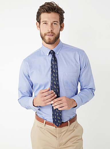 Glazed oxford shirt  Semi-tailored fit