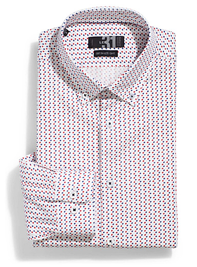 Irregular dot shirt  Semi-tailored fit