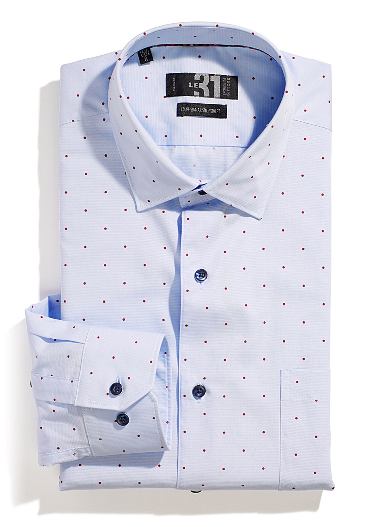 Accent-dot shirt  Semi-tailored fit - Modern fit - Blue