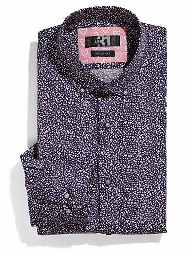 Chic confetti shirt  Tailored fit