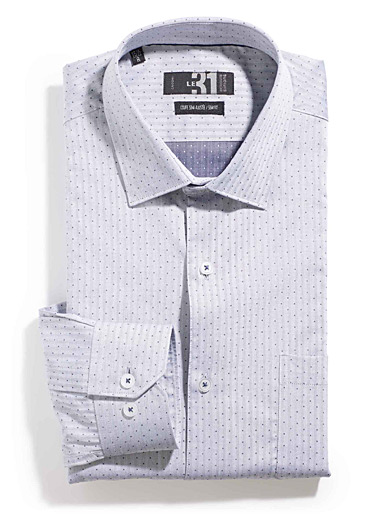 Dotted herringbone shirt  Semi-tailored fit
