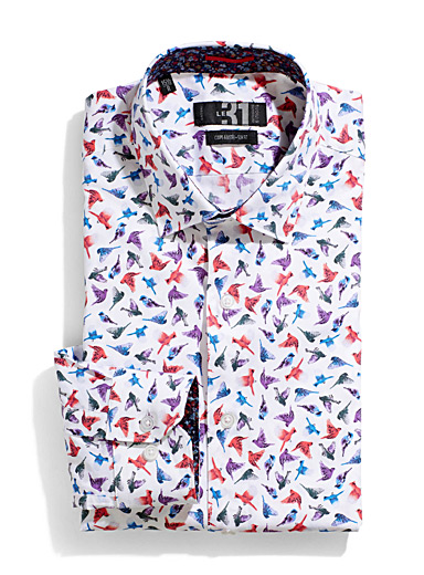 Colourful birds shirt <br>Tailored fit