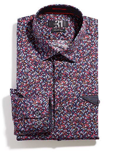 Painterly micro-floral shirt  Tailored fit