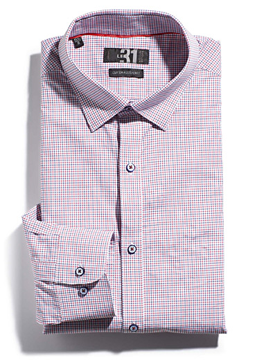 Two-tone check shirt <br>Semi-tailored fit <br>
