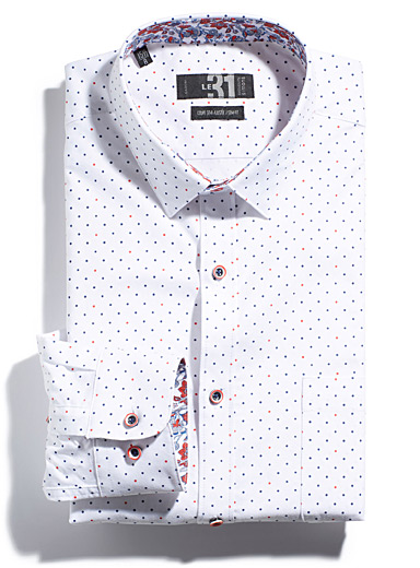 Nautical dot shirt  Semi-tailored fit